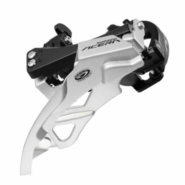 Shimano - SHIMANO SHIMANO ПРЕДЕН ДЕРАЙЛЬОР , FD-M390, ACERA, TOP- SWING, DUAL-PULL, FOR REAR 9-SPEED,W/34.9MM ADAPTER, CS ANGLE: 66-69, FOR 44/48T